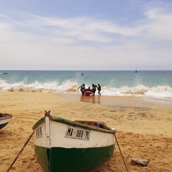 Insel Maio, Strand, Fischer